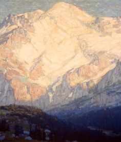 Edgar Payne Peaks and Shadows Oil on canvas, c. 1925 41 x 41 inches Gift of Elizabeth C. and Thomas T. Tierney 1986.021