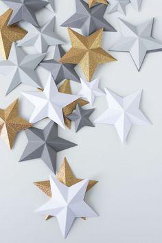 DIY: Ganz einfach 3D Papier-Sterne falten.