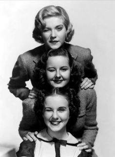 Played the Craig sisters in the 1936 movie, Three Smart Girls!