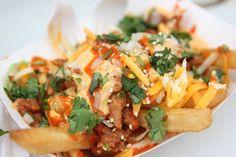 Kimchi Fries at Chi'Lantro BBQ food truck in Austin