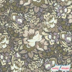 Skipping Stones Putty Floral Garden Quilt Fabric by Anna Maria Horner for Freespirit