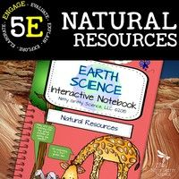 Natural Resources - Earth Science Interactive Notebook Each activity enables students to process the information given by the teacher then allows them to use self-direction to apply their new knowledge.