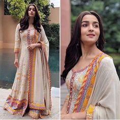 Make Every Ethnic Looks Part Of Your Style In This Season. - Thread of Trends Casual Indian Fashion, Indian Fashion Dresses, Dress Indian Style, Indian Designer Outfits, Fashion Outfits, Fashion Styles, Style Fashion, Fashion Beauty, Stylish Dresses For Girls