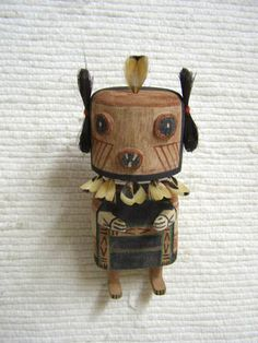 Old Style Hopi Carved Maasaw Mana Traditional Katsina Doll by Kevin Quanimptewa