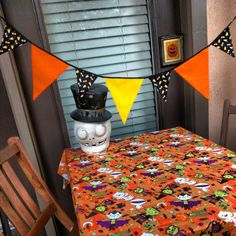 Not So Spooky Halloween Candy Fabric Banner Bunting by InYourBones