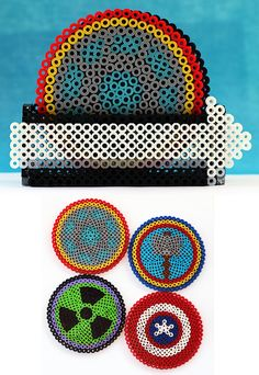 The Avengers Drink Coasters by ThePlayfulPerler.deviantart.com on @deviantART