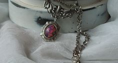 Pink Fire Opal Victorian combined with southwestern Style on sale now at http://www.etsy.com/shop/artistiquejewelry   family owned business