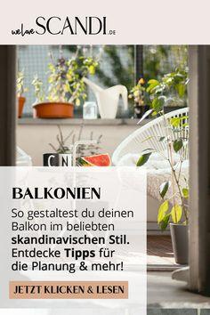 Du suchst nach Balkon Ideen im skandinavischen Stil? Dann darfst du diese Anleitung nicht verpassen. Erfahre wie du deinen Balkon im Scandi Style einrichtest. Jetzt klicken und lesen!  #balkonideendekorieren #balkonideen #balkongestalten #balkonskandinavisch #balkonskandistyle #balkonscandi #skandinavischwohnen #skandinavischeinrichten Blog, Plants, Scandinavian Design, Decorating, Reading, Tutorials, Tips, Blogging, Plant