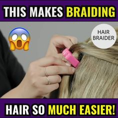 When you have little time to style your hair (or your daughter's), a braid is an easy and quick solution. Braiding your hair takes only about two minutes of your time—and the only styling tool you need is this hair braider.