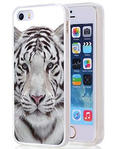 Iphone case,White tiger For Clear TPU Case for Apple Iphone Galaxy Phone, Samsung Galaxy, Apple Iphone 5, 5s Cases, Iphone Se, Amazon, Amazons, Riding Habit