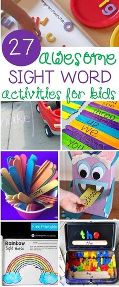 27 Awesome Sight Word Activities is part of Kids Crafts Kindergarten Sight Words - These 27 awesome sight word activities for kids provide engaging, handson ways to build up sight word knowledge and increase reading skills Reading Skills, Teaching Reading, Fun Learning, Kids Learning Activities, Guided Reading, Activities For Summer, Teaching Kids, Word Reading, Grade 1 Reading