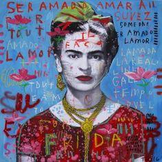 """I drank to drown my sorrows, but the damned things learned how to swim."" ― Frida Kahlo TROY HENRIKSEN, For Frida, Art Et Illustration, Illustrations, Diego Rivera, Pop Art, Mixed Media Faces, Frida Kahlo Portraits, Kahlo Paintings, Street Art, Frida Art"