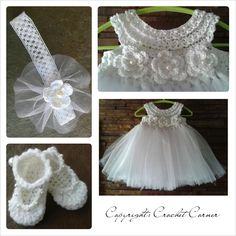 Crochet TuTu Dress set I think I would like to crochet the bottom of the dress, too.