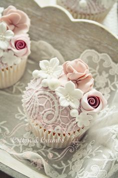 Cupcake Inspiration - Cotton & Crumbs, Vintage, Lace