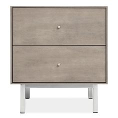 Room & Board - Hudson 20w 20d 22h Two-Drawer Nightstand with Steel Base