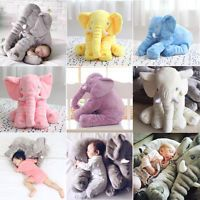 Kids Elephant Sleep Pillow Baby Soft Plush Lumbar Cushion Cartoon Toys for Gift