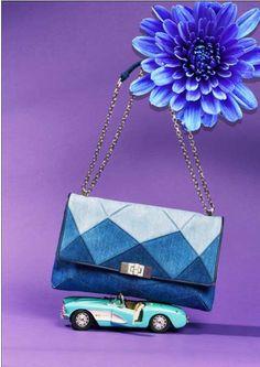 ロジェ ヴィヴィエからデニム素材の「プリズミック」コレクション - 幾何学模様のバッグ&シューズ発売の写真3