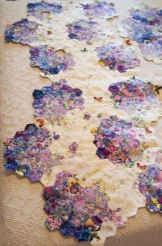 From Paper Pieces. Gorgeous colour wash hexies