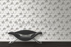 Vliesové tapety 3D plástev šedá -