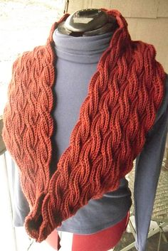 Free Pattern: Reversible Cabled Brioche Stitch Scarf
