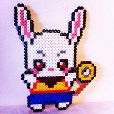 Rabbit hama beads by Smile