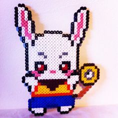 Rabbit hama beads by Smile