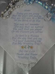"Pretty "" Blink of an Eye "" verse with Daisys £10.00 JC&T Embroidery"