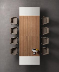 Table de réunion BOARD plateau laqué