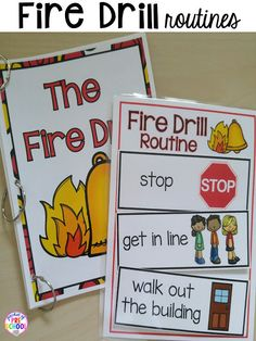Teach the fire drill using social story and visuals! FREE preschool, pre-k, and kinder LESSON PLANS for the ten days of school! Plus tips and tricks for back to school. Pre K Lesson Plans, Kindergarten Lesson Plans, Preschool Lessons, Preschool Activities, Preschool Transitions, Preschool Teachers, Preschool Curriculum, Homeschooling, Preschool Social Studies