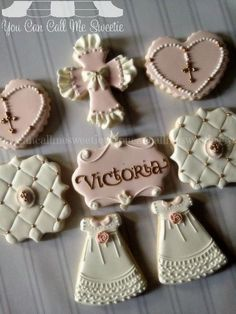 19 ideas cookies decoradas nena for 2019 No Bake Sugar Cookies, Baby Cookies, Baby Shower Cookies, Cupcake Cookies, Christening Cookies, Cross Cookies, First Communion Cakes, Super Cookies, Baptism Party