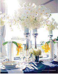 White Orchid wedding centerpiece #white #wedding