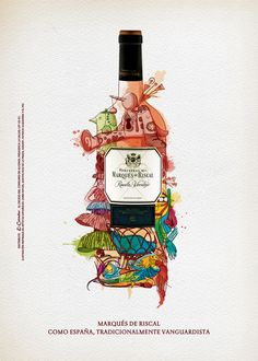 Marqués de Riscal by Anthony Rincón      I can entertain myself in the wine section of an upscale grocer just looking at the colorful, beautiful wine labels and clever packaging!