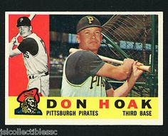 1960 TOPPS #373 DON HOAK NM-MT WELL CENTERED GREAT COLOR - PITTSBURGH PIRATES