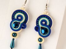 Soutache Earrings, Drop Earrings, Jewerly, Etsy, Sewing, How To Make, Crafts, Jewels, Vestidos