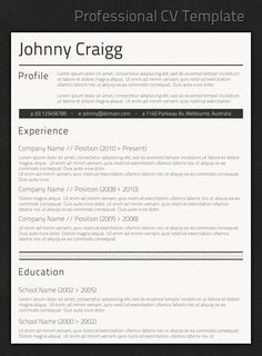 professional resume templates for design