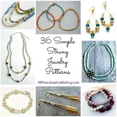 36 Simple String Jewelry Patterns