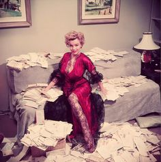 MARILYN with her fan mails