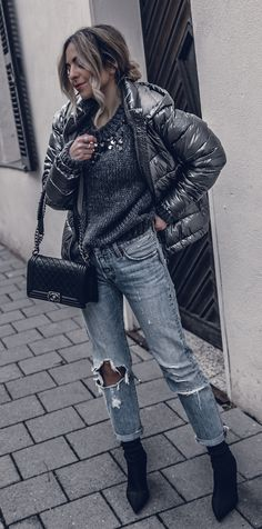 Mixing Textures Winter Street Style 2017 Blog Outfit  b911eaf6d