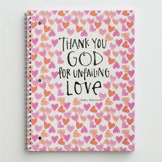 Sadie Robertson - Thank You God - Spiral Notebook. LOVE THIS