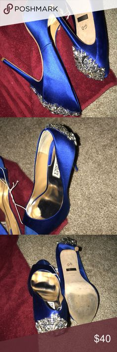 Badgley Mischka Royal blue heels. Shows some wear on the bottom but the top is good condition. Size 8. 5 inch heel Badgley Mischka Shoes Heels