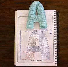 Croche e Pontos: Letras em crochê 21/12/16