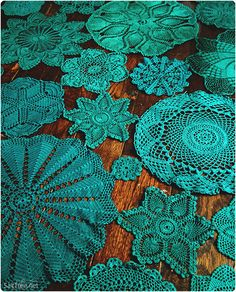 hand dyed doily tablecloth