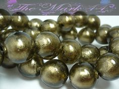 Supplies of ALL Kinds is now Open!! Yay!!! http://tophatter.com/auctions/24735 14mm Brown / Bronze Silver Foil Glass Lampwork Beads 10. Starting at $5 on Tophatter.com!