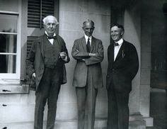Thomas Edison, Henry Ford and Harvey Firestone photograph