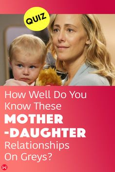 This Grey's Anatomy trivia quiz will test you on how well you know the mother-daughter relationships of the show. #greys #shondaland #greysLove #greysrandomQuiz #greysFan #meredithgrey #shonda #GreysAnatomy #greysquiz #greysnostalgia #greysAnatomyTrivia #mother #greysmom #greysmother
