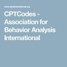 CPTCodes                 -    Association for Behavior Analysis International