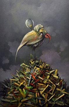 Andrzej Gudanski - Last hope Ed Fairburn, Surrealism, Auction, Symbols, Canvas, Unique, Painting, Art, Tela