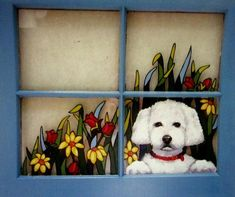 Check out our poodle selection for the very best in unique or custom, handmade pieces from our shops. Painted Window Panes, Window Art, Window Ideas, Loss Of Dog, Christmas Art, Christmas Windows, Dog Ornaments, Hand Painted Rocks, Unique Animals