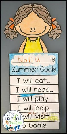 You just found the best End of the Year activities for your PreK, Kindergarten, or First grade students! See The Barefoot Teacher's Summer Goals Flip Book highlighted, plus download THREE FREE summer downloads to go with the other crafts, activities, and lesson plans you have scheduled for the last few months before summer break. Find out how to sneak some last minute writing practice in before saying good-bye!