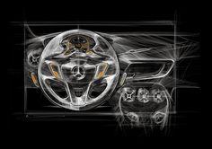 Mercedes Interior Sketches - Arthur Coudert